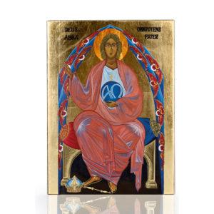 Bóg Ojciec Ikona Boga Ojca na desce olchowej