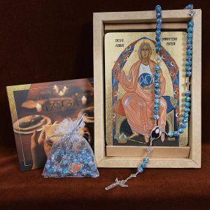 Zestaw Prezent Świąteczny Ikona Boga Ojca, Różaniec i płyta z Kolędami